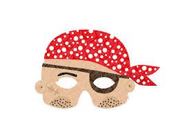 pirate paper mask printable pdf pukaca