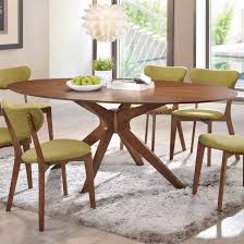oval shape dining table walnut finish oval shaped dining table center frame with 4 legs