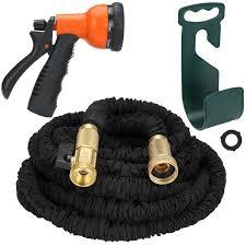rainlax garden hose flexible with brass connector and 8 way spray