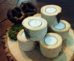 Tree Branch Candle Holder Treasury Item 18 White Natural Birch Tea Light Candleholder