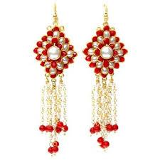 pachi work earrings buy pachi stud jhalar earrings online