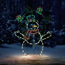 Outdoor Christmas Decorations Lighted Presents by Proline Animated Juggling Snowman Led Outdoor Christmas Decoration