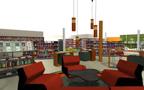 bci modern library design process planning and layout autocad