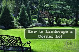 landscape design for corner house house design