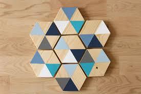 wood geometric diy wooden coasters with geometric colour block design