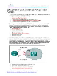 ccna 3 pretest exam answers 2017 v5 0 3 v6 0 u2013 full 100