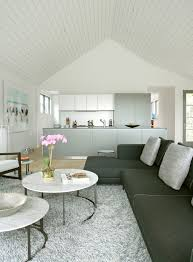 Living And Kitchen Design by Decoration Beautiful White Room Design By Axis Mundi Design