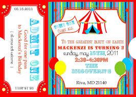 free printable carnival ticket invitations logan u0027s 1st birthday