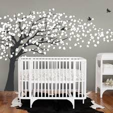 Nursery Room Tree Wall Decals Weeping Willow Tree Decal With Cherry Blossoms For Nursery