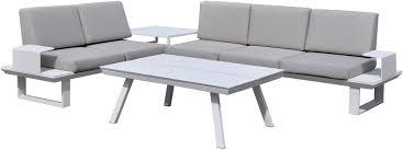 canape jardin aluminium salon de jardin aluminium luxe