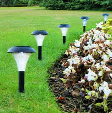 Best Outdoor Solar Led Lights by High Quality Led Yard Light With Brushed Stainless Steel Finish
