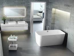 nice bathroom ideas with contemporary white freestanding bathtub
