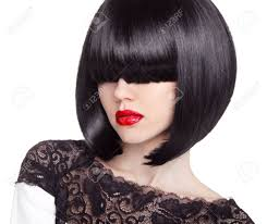 fashion bob haircut hairstyle long fringe short hair style