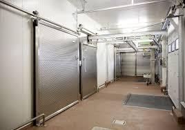 porte chambre froide coulissante porte coulissante en métal pour chambre froide de sécurité v