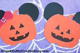 mickey inspired paper pumpkins kid craft glued to my crafts