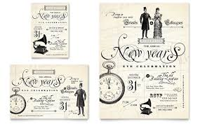 vintage new year u0027s party flyer u0026 ad template word u0026 publisher