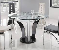 Clear Dining Room Table by Clear Round Top Dining Table With Heavy Black Marble Base Colorado