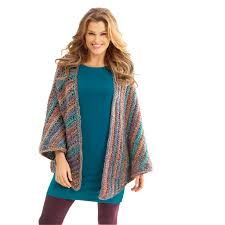 lion brand homespun necks best thing triangle shawl crochet