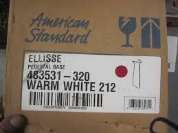 american standard ellisse petite pedestal bathroom sink warm white