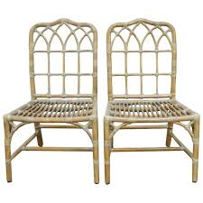 Chippendale Dining Room Chairs Pair Of Mcguire Chinese Chippendale Bamboo Dining Chairs At 1stdibs