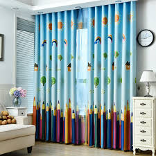 Blackout Curtains For Girls Room Aliexpress Com Buy Rainbows And Pencils Children Curtains Baby