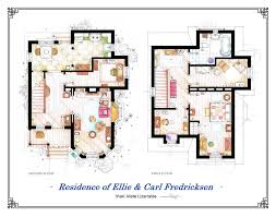 home design floor plan of new up ellie and carl fredricksen house