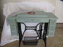 Singer Sewing Machine With Cabinet by Singer Treadle Sewing Machine Cabinet Gets A Makeover In Duck Egg