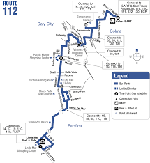 Bart Lines Map by Route 112