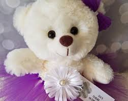 flower girl teddy flower girl etsy