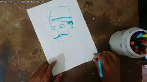 how to draw tatya tope youtube