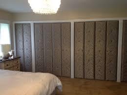 Wall To Wall Closet Doors Fliporflopny Master Bedroom Redesign With Upholstered Closet Doors