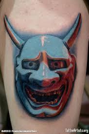latest oni mask tattoo design on chest tattooshunter com