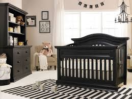 Baby Area Rugs For Nursery Baby Nursery With Black Convertible Crib And Stripes Area Rug