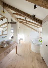 bathroom wood ceiling ideas attics turned into breathtaking bathrooms