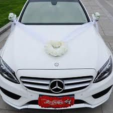 wedding car decorations heart shape wedding car decorations artificial flowers set white