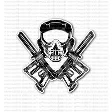 from 4 00 buy paintball skull mask cross guns sticker at print plus