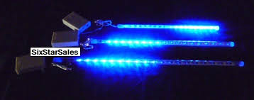 meteor shower 18 led blue lights 12 inch buy 10 or more