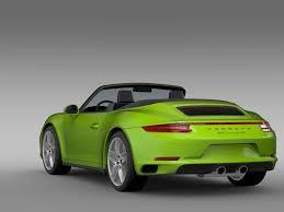 porsche coupe 2016 porsche 911 carrera 4s cabriolet 991 2016 3d model max obj 3ds fbx