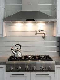 subway and stainless steel tile backsplash the contemporary
