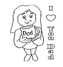 bring daddys mug love dad coloring pages coloring sky