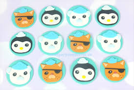 octonauts cake topper 12 x octonauts edible cupcake decorations sweet party treats