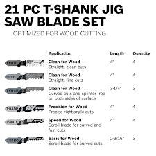 Jigsaw Blades For Laminate Flooring Bosch Tw21hc 21 Piece T Shank Woodworking Jig Saw Blade Set