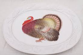 ceramic turkey platter vintage thanksgiving turkey platter 80s otagiri japan ceramic