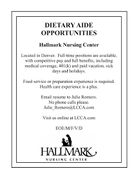 Home Health Care Aide Resume Sample by Dietary Aide Cover Letter
