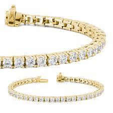 bracelet diamond yellow images 14kt yellow gold diamond tennis bracelet union diamond jpg