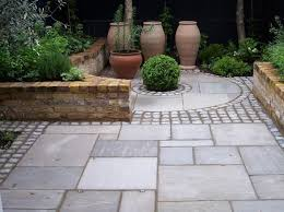 image result for grey paving with brick edging landscape ideas