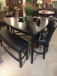 Larchmont Rustic Dark Brown Triangle Dining Room Counter - Triangular kitchen table