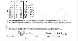 puntuaciones de los tests percentiles y puntuación directa youtube