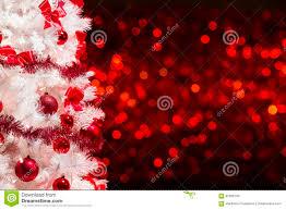 christmas tree background white xmas tree red defocused lights