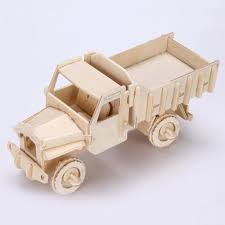 wooden truck new 3d wooden truck puzzle jigsaw lorry model toy diy kit for